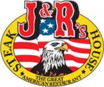 J and R's Steakhouse - Calverton logo. Links to homepage.